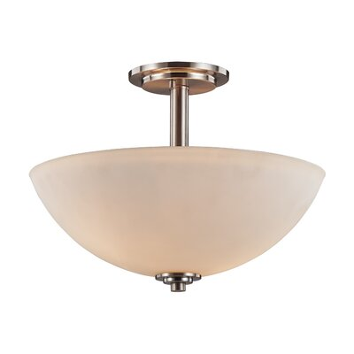 Nouveau 3-Light Semi Flush Mount Finish: Brushed Nickel
