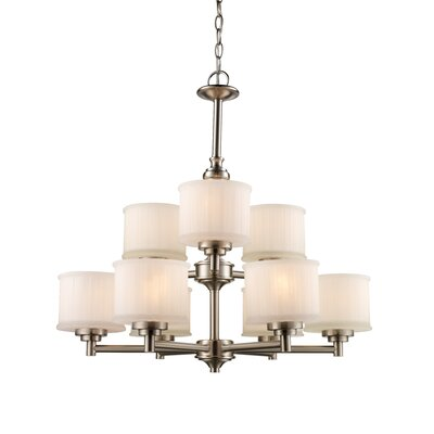 Wedgewood 9-Light Drum Chandelier Finish: Brushed Nickel