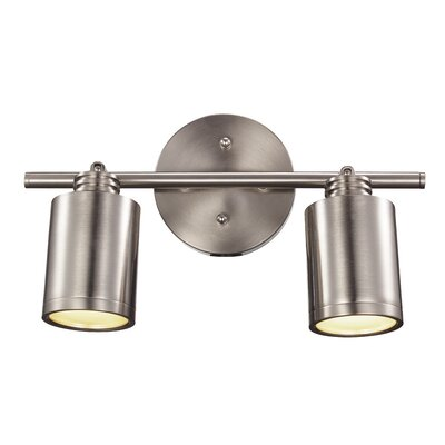 Holdrege 2-Light Track Light Finish: Brushed Nickel