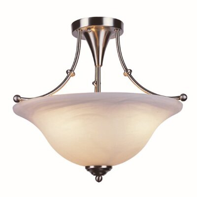 Outdoor Semi Flush Mount Finish: Brushed Nickel