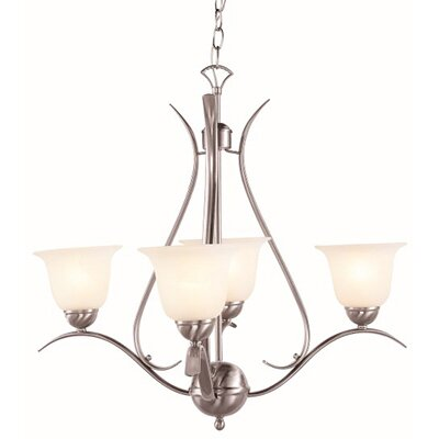 Contemporary 4-Light Semi Flush Mount Finish: Brushed Nickel