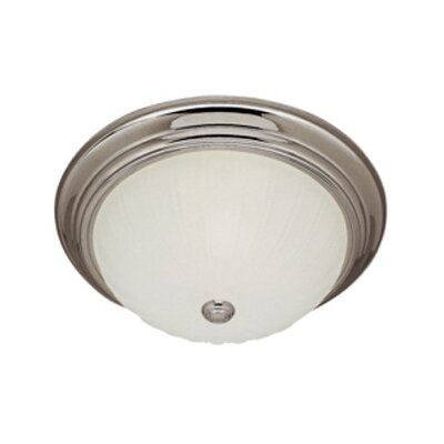 Flush Mount Finish: Brushed Nickel