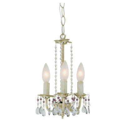 Crystal Flair 3-Light Crystal Chandelier