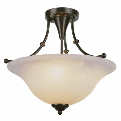 Outdoor Semi Flush Mount Finish: Weathered Bronze