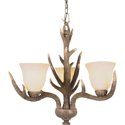 Burswood 3-Light Shaded Chandelier