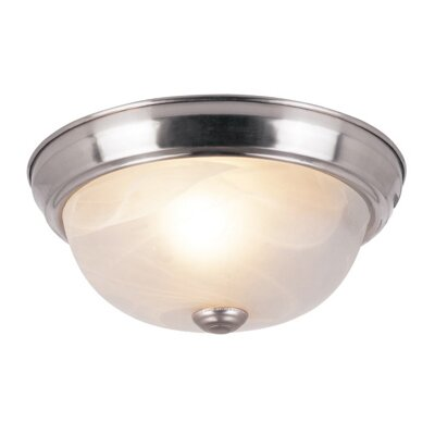 1-Light Flush Mount in Brushed Nickel Finish: Brushed NIckel
