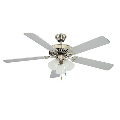 52 Tempa Breeze 5-Blade Ceiling Fan Finish: Brushed Nickel with Rosewood/Silver Blades