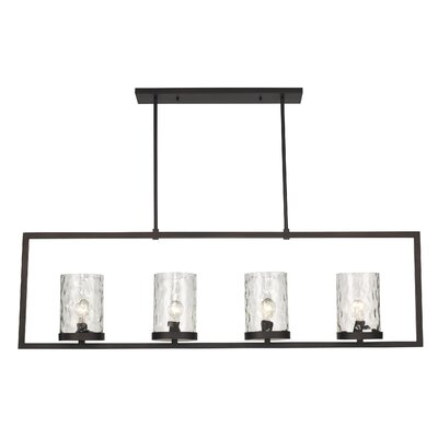 Allshouse 4-Light Kitchen Island Pendant Size: 58 H x 44.5 W x 5.25 D