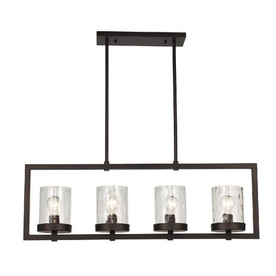 Allshouse 4-Light Kitchen Island Pendant Size: 60.25 H x 55 W x 6.25 D
