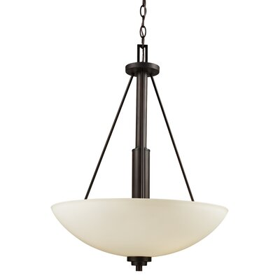 Alvey 3-Light Bowl Pendant Finish: Rubbed Oil Bronze, Size: 25 H x 20 W x 20 D