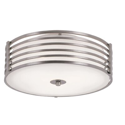 2-Light Small Metal Flush Mount Size: 5.5 H x 11.25 W