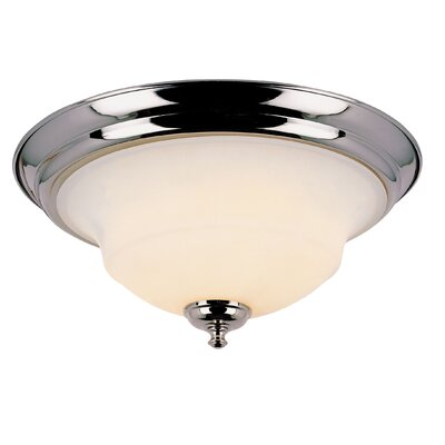 2 Light Flush Mount Finish: Polished Chrome
