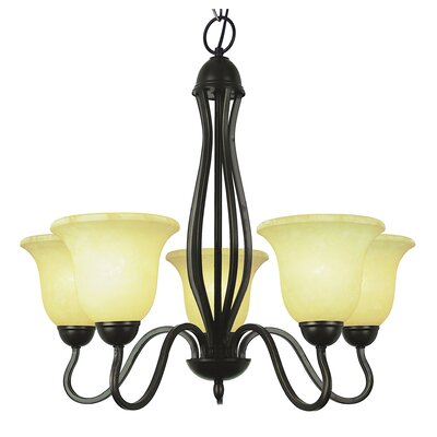 5-Light Shaded Chandelier Color: Rubbed Oil Bronze