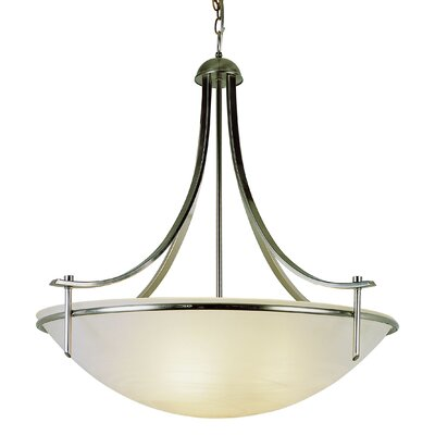4-Light Inverted Pendant Finish: Brushed Nickel