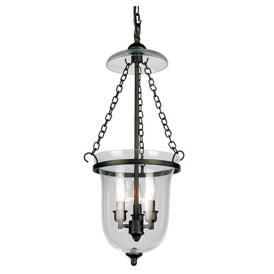 3-Light Foyer Pendant Finish: Rubbed Oil Bronze