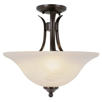 2-Light Semi Flush Mount Finish: Rubbed Oil Bronze