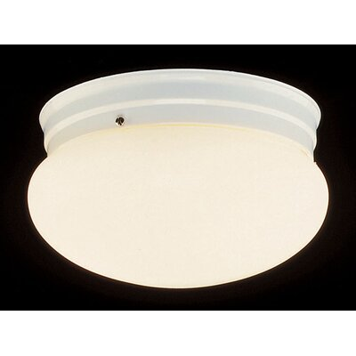 Mushroom 1-Light Flush Mount Finish: White