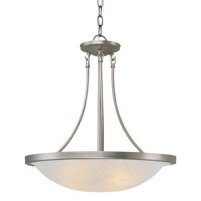 3-Light Large Inverted Pendant Finish: Brushed Nickel