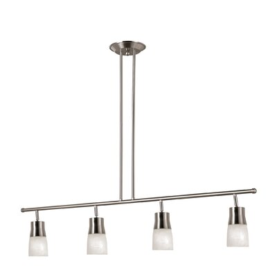 4-Light Full Track Lighting Kit Finish: Brushed Nickel