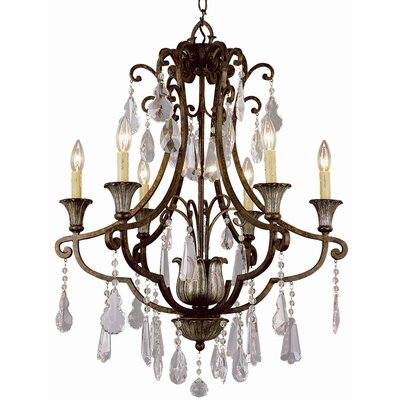 Crystal Flair 6-Light Crystal Chandelier