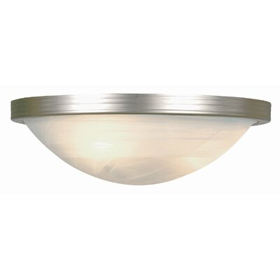 1-Light Flush Mount Finish: Rubbed Oil Bronze