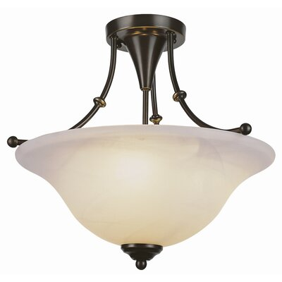 Contemporary Semi Flush Mount Finish: Brushed Nickel