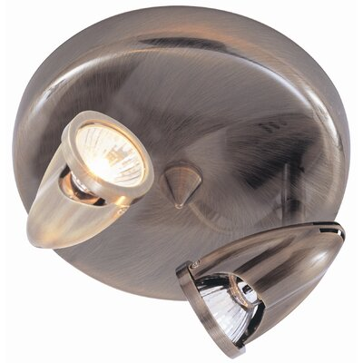 Modern Track Lights 2-Light Semi Flush Mount Finish: Rubbed Oil Bronze