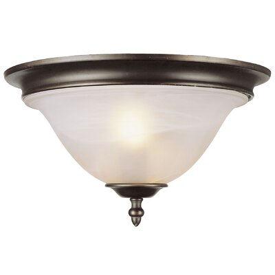 2-Light Flush Mount Finish: Pewter