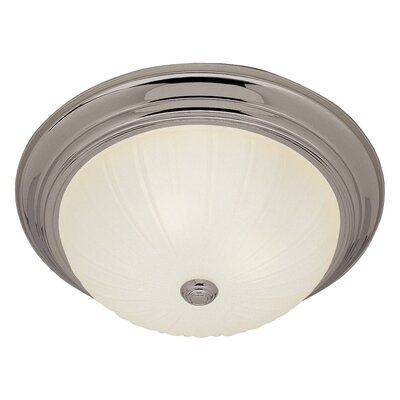3-Light Flush Mount Finish: Antique White