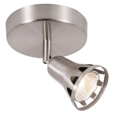 1-Light Semi Flush Mount Track Light Finish: Brushed Nickel