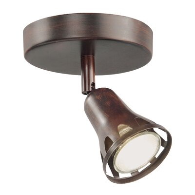 1-Light Semi Flush Mount Track Light Finish: Rubbed Oil Bronze