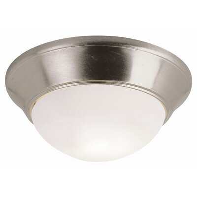 Energy Efficient Indoor 2-Light Flush Mount Size: 6 H x 11 W