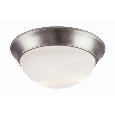 Energy Efficient Indoor 2-Light Flush Mount Size: 6.5 H x 14 W