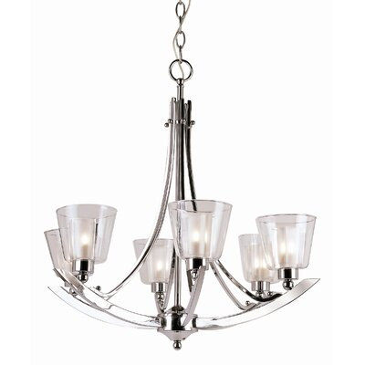 Energy Efficient Indoor 6-Light Shaded Chandelier