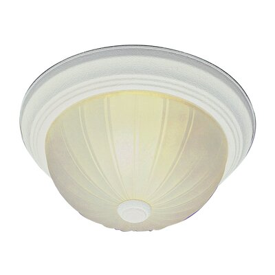 2-Light Flush Mount Finish: Antique White