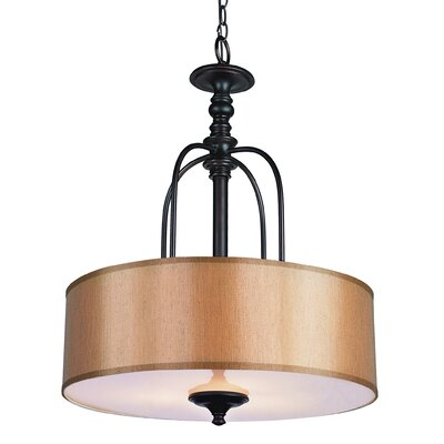 Modern Meets Traditional 3-Light Drum Pendant