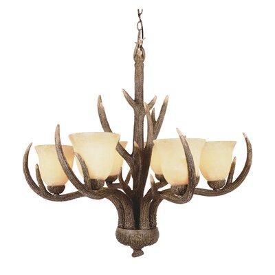 Burswood 6-Light Shaded Chandelier