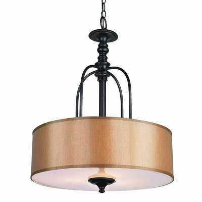 Chapawee 1-Light Foyer Pendant Finish: Rubbed Oil Bronze, Size: 15 H x 12 W