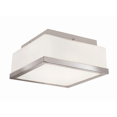 2-Light Flush Mount Finish: Polished Chrome