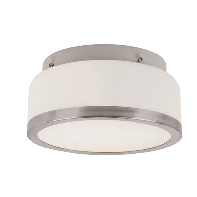 1-Light Flush Mount Finish: Brushed Nickel