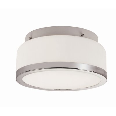 1-Light Flush Mount Finish: Polished Chrome