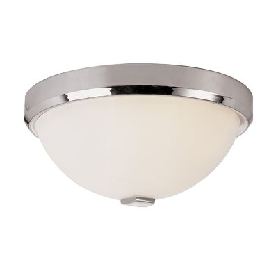 Squared Cap 3-Light Flush Mount Finish: Polished Chrome