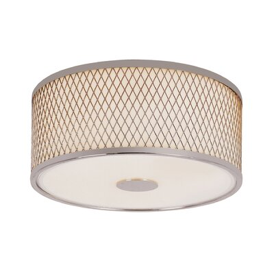 Diamond Grill 2-Light Flush Mount