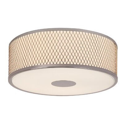 Diamond Grill 3-Light Flush Mount