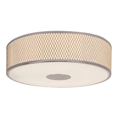Diamond Grill 4-Light Flush Mount