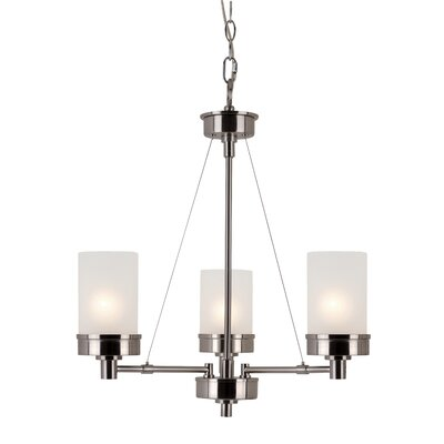 Urban Swag 3-Light Shaded Chandelier