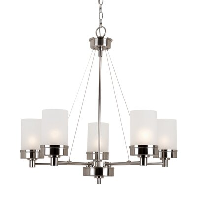 Kincer 5-Light Shaded Chandelier