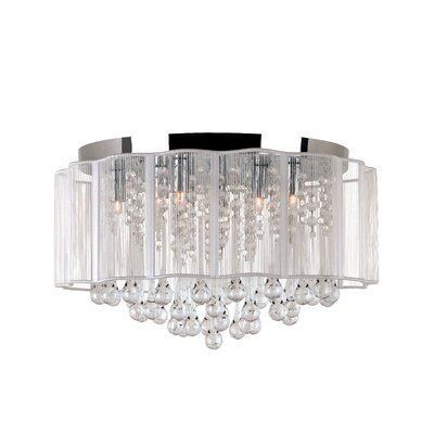 Veiled Modern 8-Light Flush Mount