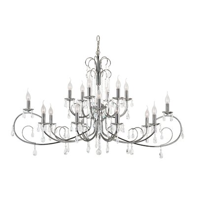 Chic Nouveau 18-Light Crystal Chandelier
