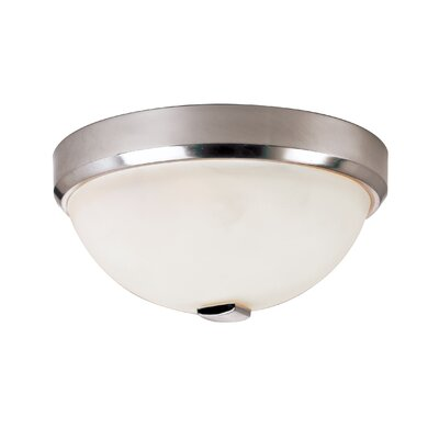 Squared Cap 2-Light Flush Mount Finish: Brushed Nickel